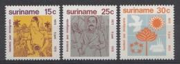 Surinam 1973  Mi.nr.: 651-653  100.Jahrestag Der ......  Neuf Sans Charniere / MNH / Postfris - Suriname
