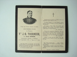 Souvenir Veuve J.-B. TOURNEUR, Née Anne GORES. - Diekirch, 1907. - Images Religieuses