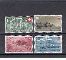 Suisse - 1947 - Neuf** - N° YT 437/440 - Fête Nationale - Pro Patria