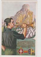 "245° Legione Milizia Avanguardia ""Principe Di Piemonte"", Campeggio A Cortina D'Ampezzo,1929, Illustr. G. Grilli - F.p. - Militari"