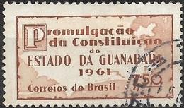BRAZIL 1961 Promulgation Of Guanabara Constitution - 7cr50 Map Of Guanabara State FU - Brasilien