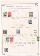 Grande-Bretagne Colonies Et Territoires - Ancienne Collection Sur Feuilles D'époque - Collections (sans Albums)