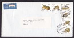 South Africa: Airmail Cover Edenvale To Netherlands, 1993, 6 Stamps, Monkey, Bird, Lizard, Plant, Label (minor Damage) - Brieven En Documenten