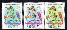 APR2284 - LIBIA LYBIA 1976 , Serie Yvert  N. 591/593  ***  MNH  Sport - Libia