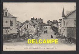 DD / 44 LOIRE ATLANTIQUE / SAINT ETIENNE DE MONTLUC / LE BOULEVARD DE LA GARE ET LE CAFÉ LALANDE / ANIMÉE / 1918 - Saint Etienne De Montluc