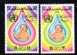APR2285 - LIBIA LYBIA 1977 , Serie Yvert  N. 623/624  ***  MNH  Sanità - Libia