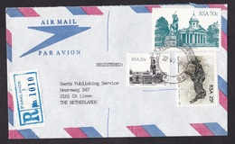 South Africa: Registered Cover Parklands To Netherlands, 1987, 3 Stamps, Missent To Funchal Madeira (traces Of Use) - Zuid-Afrika (1961-...)