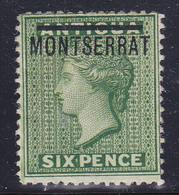 Montserrat 1876  Regina Vittoria   Gibbons N° 2 MLH * - Montserrat