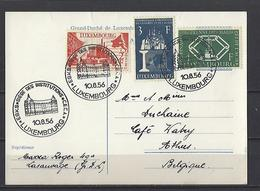 Luxembourg: 511/513 Sur Entier Postal Avec Oblitérations 1er Jour  (CECA) - Oblitérés