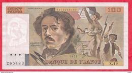 "100 Francs ""Delacroix"" 1979 ---VF/SUP-- X.19 (ALPHABET PEU COMMUN) - 1962-1997 ''Francs''"