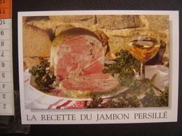 CP Carte Postale Postcard RECETTE CUISINE BOURGOGNE JAMBON PERSILLE - Küchenrezepte