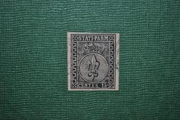 Italie/Parme 1852 Y&T 3 Défectueux : Aminci - Parme