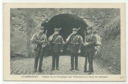 Luxembourg Soldats De La Compagnie Des Volontaires En Tenue De Campagne Um 1910 - Sonstige