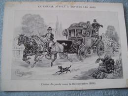 LOT DE 6 CARTES POSTALES - ILLUSTRATEUR - LE CHEVAL ATTELÉ - MONTE A TRAVERS LES AGES - - Ansichtskarten