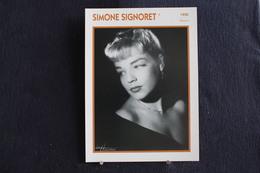 Sp-Actrice,écrivain - Française,1950 - Simone Signoret, Née En1921 En Allemagne,morte En 1985 à Autheuil-Authouillet. - Acteurs