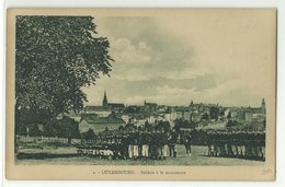 Luxembourg Soldats A La Manouvre Um 1910 - Sonstige