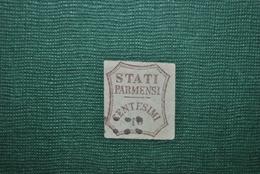 Italie/Parme 1859 Y&T 13 Défectueux : Aminci - Parme