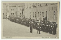 Luxembourg Compagnie Des Volontaires Um 1910 - Sonstige