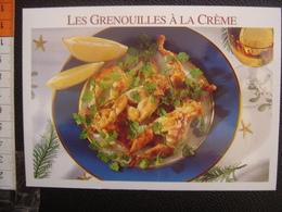 CP Carte Postale Postcard RECETTE CUISINE BOURGOGNE GRENOUILLES A LA CREME - Küchenrezepte