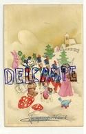 Joyeux Noël (barré). Petit Ange, Soldats, Mickey, Peluches, Nounours, Champignons, Houx, ... Coloprint Spécial 7949 - Kerstmis