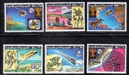 APR2291 - LIBIA LYBIA 1977 , Serie Yvert  N. 633/638  ***  MNH  Upu - Libia