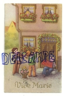 Vive Marie. Trois Petits Musiciens, Aubade. Accordéon, Violon, Trompette. 1934 - Fêtes - Voeux