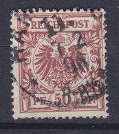 Germany Reichspost 1889 Mi. 50ab     50 Pf. Reichsadler Im Kreis (Dunkelbräunlichrot) Cote €280,- (W.S) X2 - Deutschland