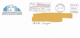 EMA NY 033493 Drôme Flamme Grignan Château Truffe Vin Lavande Enveloppe Mairie Sévigné - Postmark Collection (Covers)