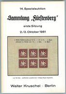14. Kruschel Auktion 1981 - Sammlung Fürstenberg Teil 1 - Auktionskataloge
