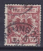 Germany Reichspost 1889 Mi. 50b     50 Pf. Reichsadler Im Kreis (Rötlichbraun) Cote €30,- - Deutschland