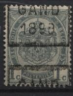 PREOS Roulette - GAND 1899 Sans Bandelette (position C). Cat 216 Cote 500. - Préoblitérés