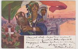 I* Mostra Industriale Italiana In Tripoli, 1913-1914, Illustratore Plinio Codognato  - F.p. - Manifestazioni