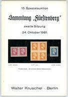 15. Kruschel Auktion 1981 - Sammlung Fürstenberg Teil 2 Preußen - Auktionskataloge