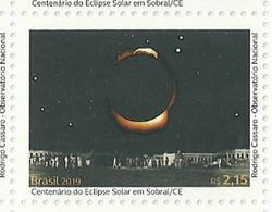 BRAZIL 2019 - 01 Stamp - Solar Eclipse Sobral EINSTEIN SUN EARTH - New Mint (GN 0375a) - Brasilien