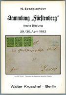 16. Kruschel Auktion 1982 - Sammlung Fürstenberg Teil 3 Nebst Ergebnisliste - Auktionskataloge
