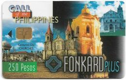 Philippines - PLDT (Chip) - Old Church - Exp.30.11.1998, Chip Siemens S30, 250₱, Used - Filippijnen