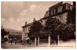 01 DIVONNE LES BAINS - Hotel De La Gare Et Hotel Des Etrangers - Cpa Ain - Divonne Les Bains