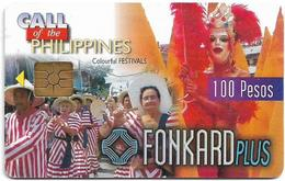 Philippines - PLDT (Chip) - Colourful Festivals - Exp.31.10.1999, Chip GEM2 Red, 100₱, Used - Filippine