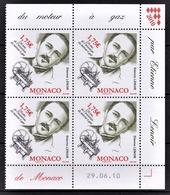 MONACO 2010  - BLOC DE 4 TP / Y.T. 2749 - NEUFS ** COINS DE FEUILLE / DATE - Monaco