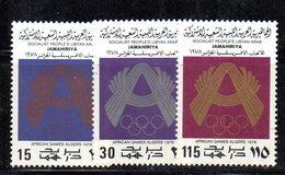 APR2299 - LIBIA LYBIA 1978 , Serie Yvert  N. 692/694  ***  MNH Sport - Libia