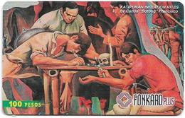 Philippines - PLDT (Chip) - Katipunan Initiation Rites - Exp.30.06.1999, Chip CHT10, 100₱, Used - Filippijnen