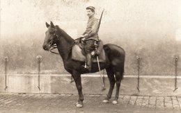 Carte Photo D'un Soldat à Cheval - Oorlog 1914-18