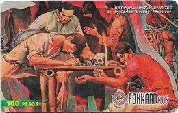Philippines - PLDT (Chip) - Katipunan Initiation Rites - Exp.31.10.1999, Chip CHT10, 100₱, Used - Filippine