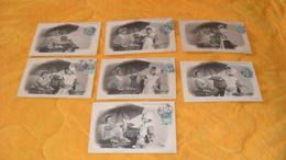 LOT DE 7 CARTES POSTALES ANCIENNES CIRCULEES DE 1904.../ MARCHANDE DE MAREE...COLLECTION ND. PHOT. CACHET + TIMBRE.. - Scènes & Paysages
