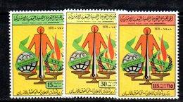 APR2302 - LIBIA LYBIA 1978 , Serie Yvert  N. 723/725  ***  MNH  Diritti Uomo - Libia