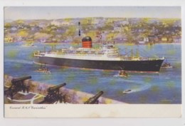 AJ02 Shipping - Cunard R.M.S. Carinthia - Paquebot, Posted At Sea, Artist Signed - Steamers