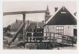 AJ02 Volendam - RPPC, Men On Bridge - Volendam