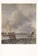 AL17 Art - Boats In A Ruffled Sea By Jan Van De Cappelle - Paintings