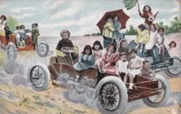 AL18 Children - Multiple Babies Driving Cars - Babies