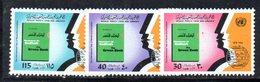 APR2305 - LIBIA LYBIA 1978 , Serie Yvert  N. 703/705  ***  MNH  Apartheid - Libia
